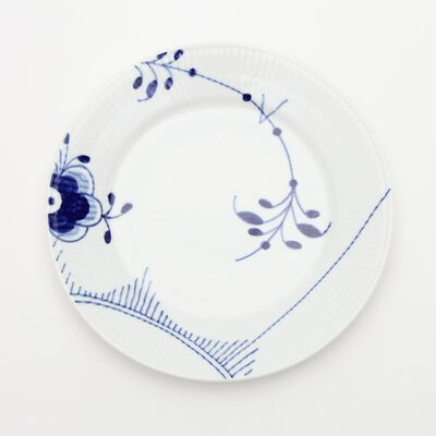 "ROYAL COPENHAGEN(ロイヤル コペンハーゲン)""BLUE FLUTED MEGA"" プレート (22cm)"