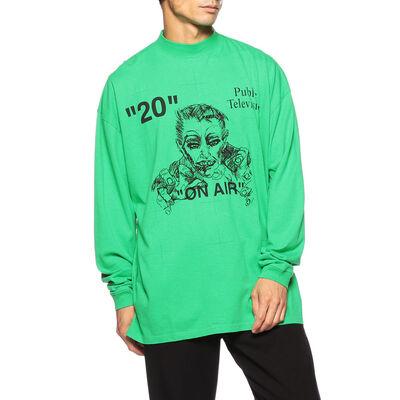 OFF-WHITE c/o VIRGIL ABLOH(オフ-ホワイト c/o ヴァージル アブロー)モックネックプリントTシャツ