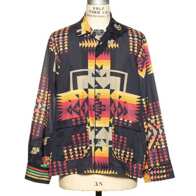 SACAI(サカイ)プリントオープンカラーシャツ