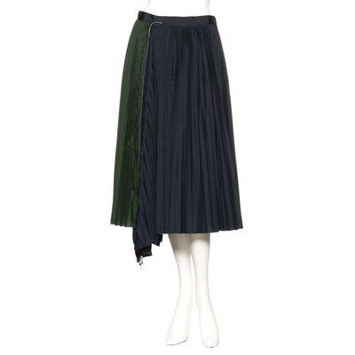 SACAI(サカイ)ハイブリッドプリーツスカート
