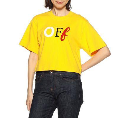 OFF-WHITE c/o VIRGIL ABLOH(オフ-ホワイト c/o ヴァージル アブロー)ロゴプリントクロップドTシャツ