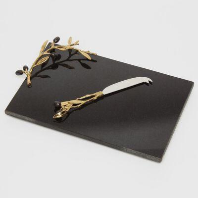 """MICHAEL ARAM(マイケル アラム)""""OLIVE BRANCH GOLD"""" ナイフ付きチーズボード"""