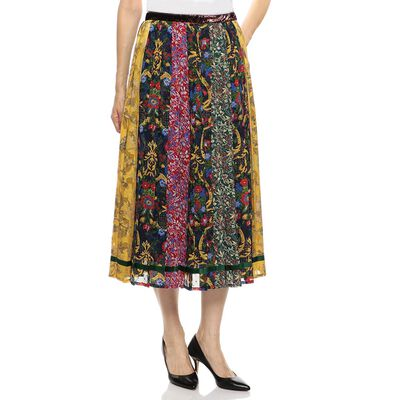 MUVEIL(ミュベール)マルチパターンプリーツスカート