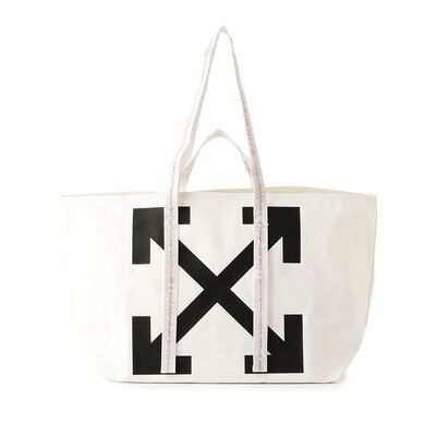 OFF-WHITE c/o VIRGIL ABLOH(オフ-ホワイト c/o ヴァージル アブロー)プリントハンドバッグ