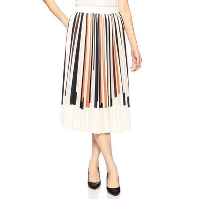BARNEYS NEW YORK(バーニーズ ニューヨーク)マルチストライププリーツスカート