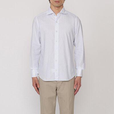 FINAMORE(フィナモレ)小紋柄シャツ