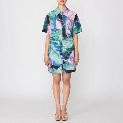 ACNE STUDIOS(アクネ ストゥディオズ)ジップアッププリントシャツドレス