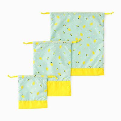 SWANMIMI(スワンミミ)巾着3枚セット (レモン&ライム)