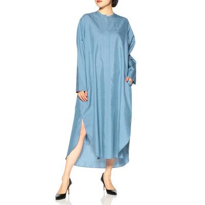 SEYA.(セヤ)ノーカラーボリュームシャツドレス