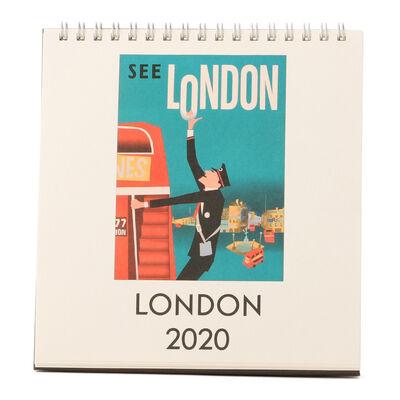 """CAVALLINI(カヴァリーニ)2020年度 デスクカレンダー """"LONDON"""""""