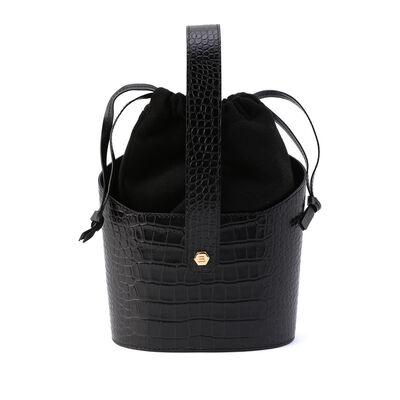 BALLEN PELLETTIERE(バレンペレッティエレ)クロコダイル型押しバケットバッグ
