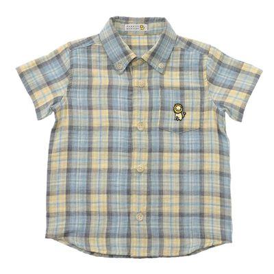 BARNEYS NEW YORK(バーニーズ ニューヨーク)半袖ガーゼチェックシャツ