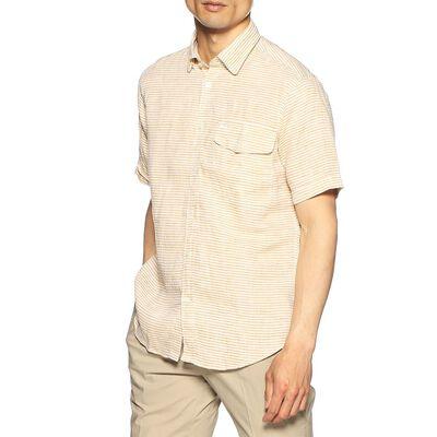 BARNEYS NEW YORK(バーニーズ ニューヨーク)ホリゾンタルストライプ柄リネンシャツ