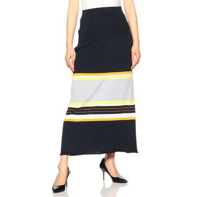 BARNEYS NEW YORK(バーニーズ ニューヨーク)マルチボーダーニットロングスカート