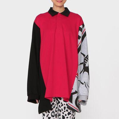 KOCHE(コシェ)オーバーサイズプリントポロシャツ