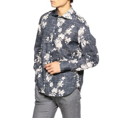 FINAMORE(フィナモレ)フラワープリントシャツ