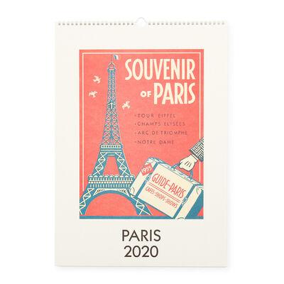 """CAVALLINI(カヴァリーニ)2020年度 壁掛けカレンダー """"PARIS"""""""