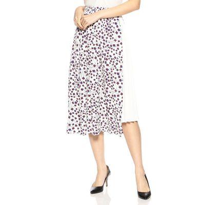 BARNEYS NEW YORK(バーニーズ ニューヨーク)プリントプリーツブロックスカート