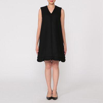 YOKO CHAN(ヨーコ チャン)ウールVネックペタルドレス