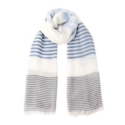 BARNEYS NEW YORK(バーニーズ ニューヨーク)マルチストライプ柄スカーフ