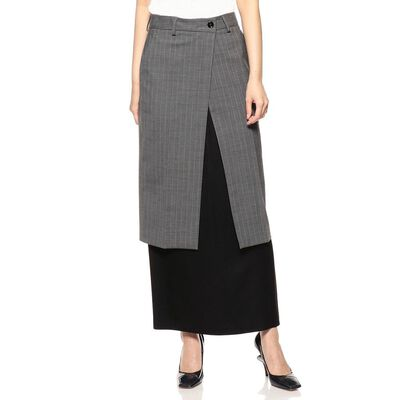 MM6 MAISON MARGIELA(エムエム6 メゾン マルジェラ)レイヤードミディスカート