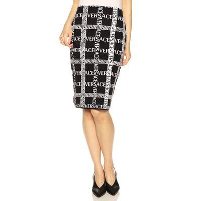 VERSACE(ヴェルサーチェ)ロゴニットタイトスカート