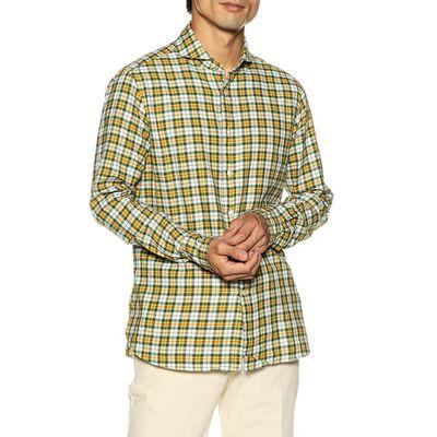 CATARISANO(カタリザーノ)チェック柄ライトネルシャツ