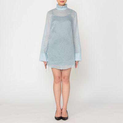 CECILIE BAHNSEN(セシリー バンセン)ラッフルネックシャツドレス