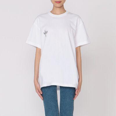 "CCRT(シーシーアールティー)プリントTシャツ ""3 BLUE"""