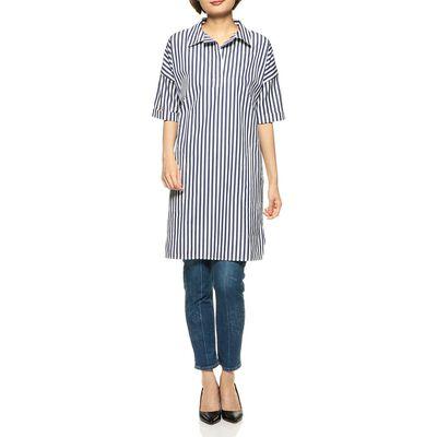 KULE(キュール)ストライプ柄ロングシャツ