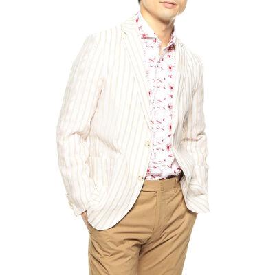 BARNEYS NEW YORK(バーニーズ ニューヨーク)ストライプ柄シャツジャケット