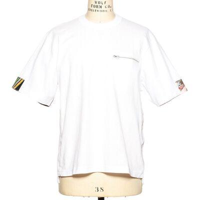 SACAI(サカイ)スリーブプリントTシャツ