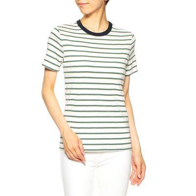 PETIT BATEAU(プチバトー)ボーダーハーフスリーブTシャツ