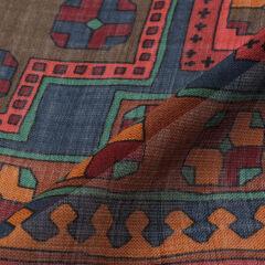 Wool Silk Scarf 2107887: Navy