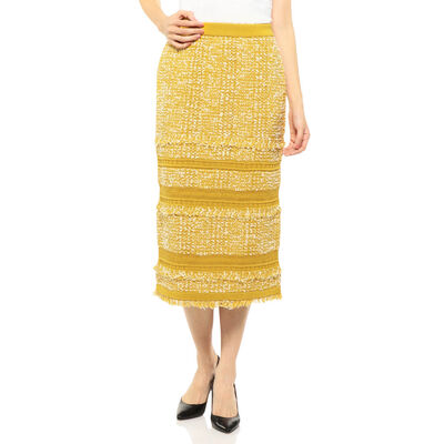 BARNEYS NEW YORK(バーニーズ ニューヨーク)セットアップミックスツイードタイトスカート