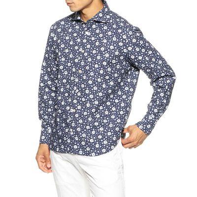 FINAMORE(フィナモレ)スモールフラワープリントシャツ