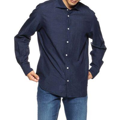 FINAMORE(フィナモレ)シアサッカーシャツ