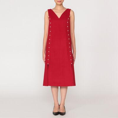 HUISHAN ZHANG(フーシャン ツァン)ノースリーブVネックドレス