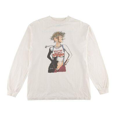 SAINT MXXXXXX(セント マイケル)ヴィンテージ加工プリントロングスリーブTシャツ
