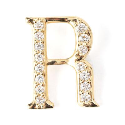 "SAFFRAAN(サフラン)【オーダー品】オンラインストア限定イニシャルペンダントトップ ""R"""