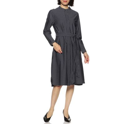 BARNEYS NEW YORK(バーニーズ ニューヨーク)ウォッシャブルストライプ柄ジャージーシャツドレス