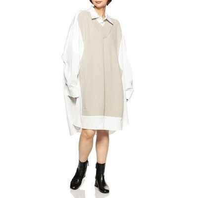 MAISON MARGIELA(メゾン マルジェラ)コンビネーションオーバーシャツドレス
