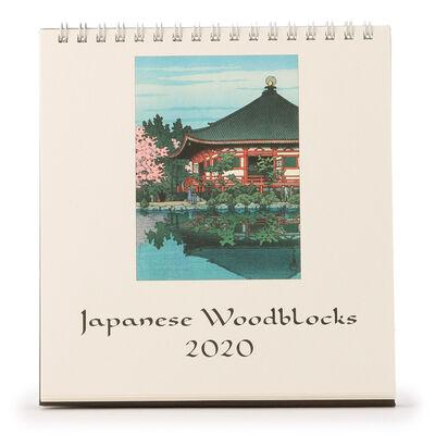 "CAVALLINI(カヴァリーニ)2020年度 デスクカレンダー ""JAPANESE WOODBLOCKS"""