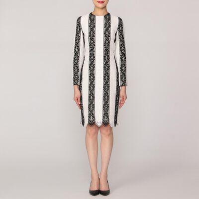 HUISHAN ZHANG(フーシャン ツァン)ストライプレースタイトドレス