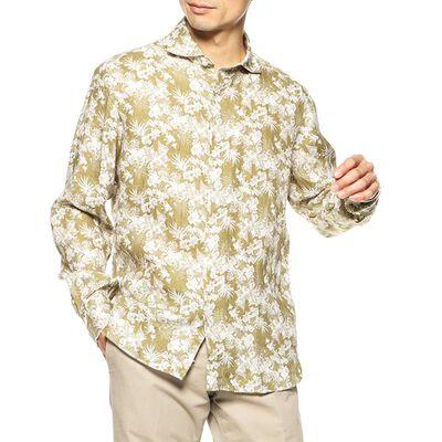 MARIO MUSCARIELLO(マリオ ムスカリエッロ)ボタニカル柄リネンシャツ