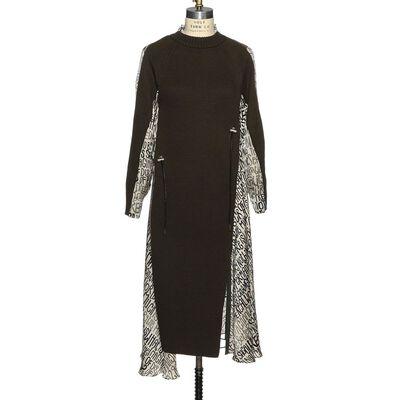 SACAI(サカイ)レイヤードプリントドレス