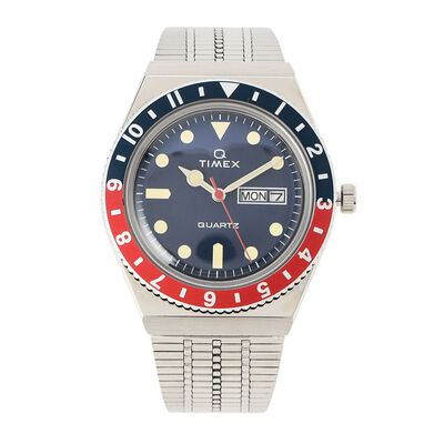 "TIMEX(タイメックス)ウォッチ ""TIMEX Q TW2T80700 BLUE/RED"""