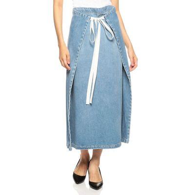MM6 MAISON MARGIELA(エムエム6 メゾン マルジェラ)フロントリボンデニムスカート