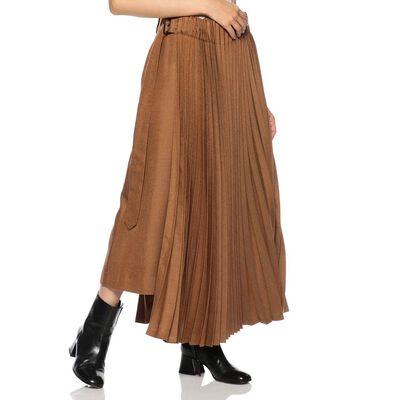 HYKE(ハイク)ラッププリーツロングスカート