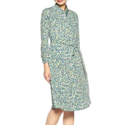 BARNEYS NEW YORK(バーニーズ ニューヨーク)ウォッシャブルレオパード柄プリントシャツドレス